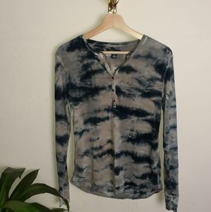American Living tie dye blouse size small